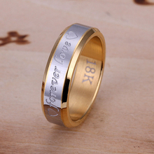 2015 new 925 sterling silver wide 18k golden lover forevery Ring for Women Men Gift Jewelry Fine Fashion jewerly Finger Ring