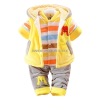2018 New Winter Baby Girl Boys Clothes Infant Kids Clothes Newborn Baby Girls Clothing Set Baby's 3pcs Soft Cotton Warm Suit