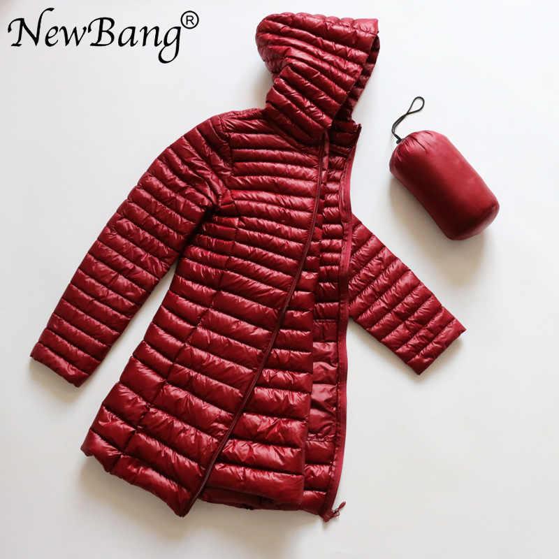 Новые Брендовые женские куртки женские длинные зимние теплые пальто женские ультра легкие пуховики с сумкой для переноски женские пальто