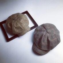 272bd8d433411 Nouveau automne hiver casquette à chevrons en Tweed gavroche homme casquette  octogonale casquette plate mode Chic