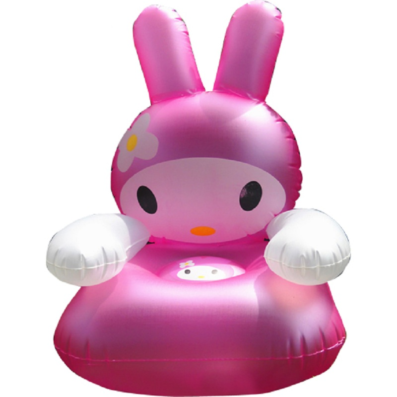 Pula Pula Bounce House Trampoline Little Rabbit Children Inflatable Sofa The Baby Seat Stool Toys More Cute Color Random