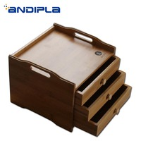 Натуральный бамбуковая коробка для хранения многослойный ящик пуэр ящики для чая подставка для чашки лоток пластина Pu'er торт сепаратор чай