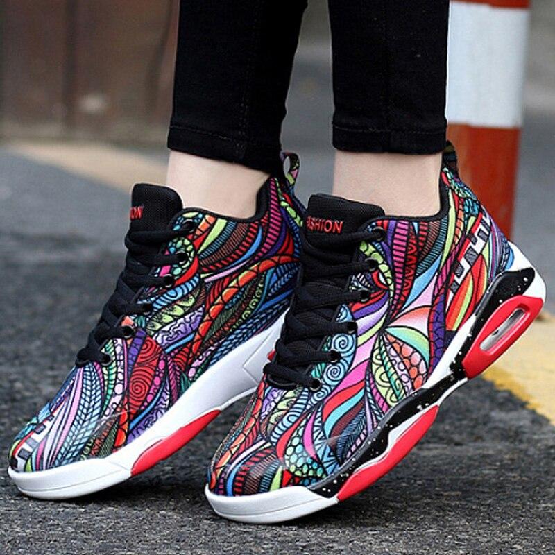 La Pour Chaussures Femme Taille D'automne De Grande 47 À multi Décontractées Sport 2019 Femmes Élégant Printemps Black Mode Color Broder Baskets PZOXiuk