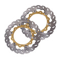 Arashi Front Brake Disc Rotors Set For Yamaha XP T-MAX 500 2008 -2011 & XP T-MAX ABS 500 2008 -2012 Gold