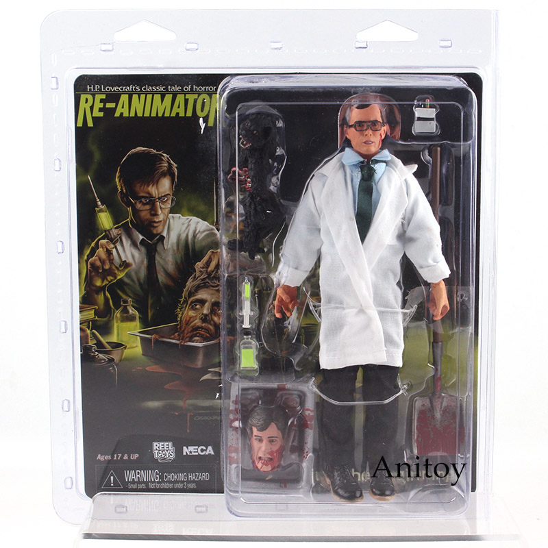 Action Figure Neca Reel Toys H.P.Lovecraft's Re-Animator Herbert West Horror Movie Figures PVC Collectible Model Toy Gift 20cm horror movie toys the crow brandon lee eric draven vs top dollar neca action figure pvc collectible model toy