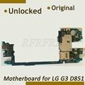 Desmontar original desbloqueado 32g para lg g3 mainboard, 100% partido para lg g3 d851 prueba de la placa madre de alta calidad antes de nave