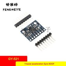 Panel MPU-6050 module Triaxial acceleration Gyro 6DOF module Code schematic GY-521