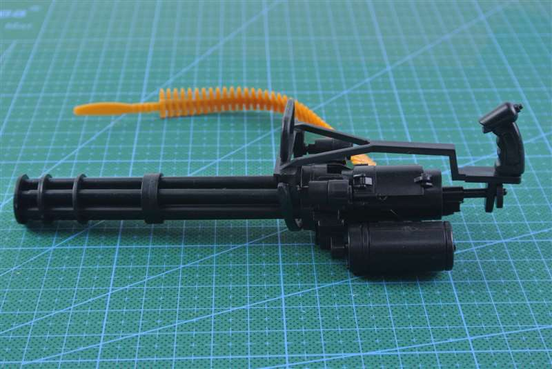 1:6 M134 Gatling Minigun 12 Action Figure Weapon Plastic Assemble Heavy Machine Gun Model 1/6 Military Soldier Firearm