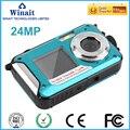 Бесплатная Доставка 16X Цифровой Зум макросъемка мини камеры 24MP Максимальная Подводные Full HD 1080 P Цифровая видеокамера DC-16