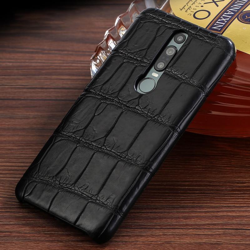 Véritable cuir de Crocodile de luxe téléphone portable étui pour huawei Mate RS 20 30 P20 Pro Lite couverture pour Honor 20 Pri 20i 10 10i 8x v20