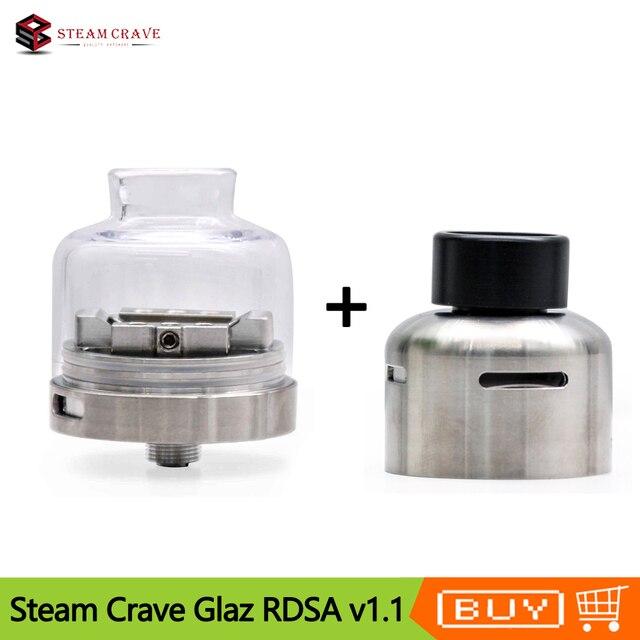 Orijinal Buhar Crave Cam RDSA V1.1 30mm Çapraz Üst Yan Hava Akımı ve Geliştirilmiş Squonk Kısmı Vape Tankı Atomizer VS Cam RDSA