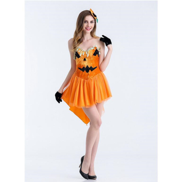 5dd05cab3f Cute Elven Mage Cosplay For Woman Halloween Elven Mage Pumpkin Costumes  Cosplay Different Size And Orange Jumpsuit For Choose