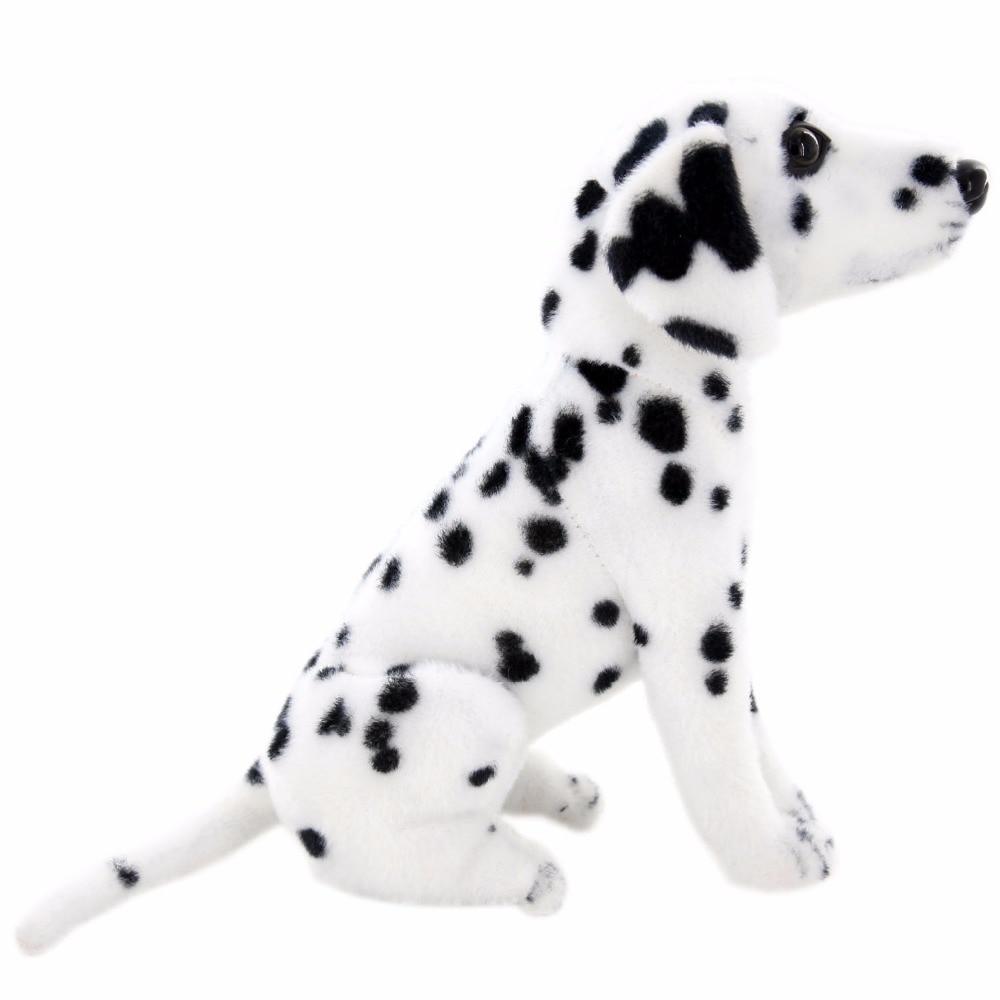 JESONN reális töltött állatok ülnek dalmát kutya plüss játékok a gyermekek születésnapi ajándékok