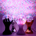 Beautiful Auto Rotating RGB LED Stage Lamps Palm Crystal Magic Ball Stage Effect Lighting Lamp Party Disco DJ Light 110V 220V