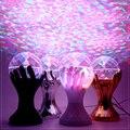 Bela Palma de Cristal Auto Rotating LED RGB Luzes Do Palco Magia bola de Iluminação Do Efeito de Estágio Luz Festa Disco DJ Luz 110 V 220 V