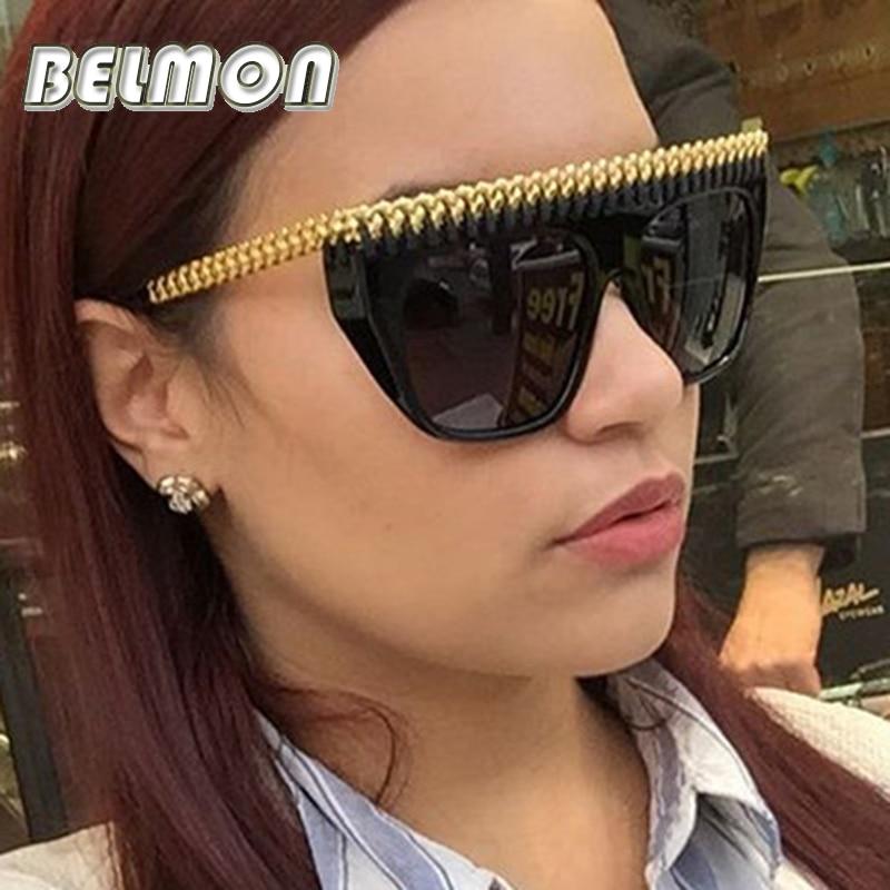 Fashion Sunglasses Women Luxury Brand Designer Sun Glasses Bige Frame For Ladies UV400 Female Oversized Shades Oculos de RS070 lingerie top