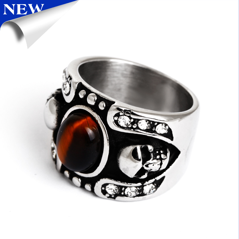 2015 vintage red stone skull wedding ringchina mainland - Skull Wedding Rings