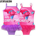 Baby Girls Bathing Suit Poppy trolls Swimsuit Children Bikini Set kids Cartoon Swimwear Costumes beach girl Tankini Sunsuit