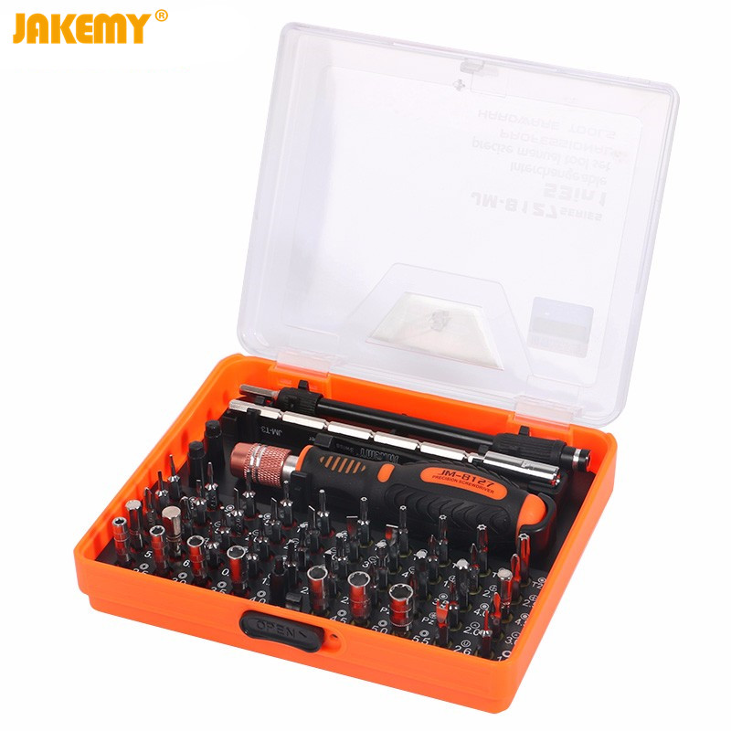 JAKEMY JM-8127 Multipurpose Screwdriver Set 53in1 Interchangeable Precision Screwdriver Portable Electronic Repair Hardware Tool  цены