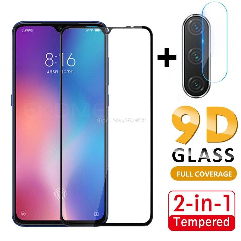 2 In 1 Protective Glass For Xiaomi Mi 9 CC9 CC9E Mi9 SE Mi A3 Full Cover Front Glass + Camera Lens Flim For Redmi Note 8T 8 8A