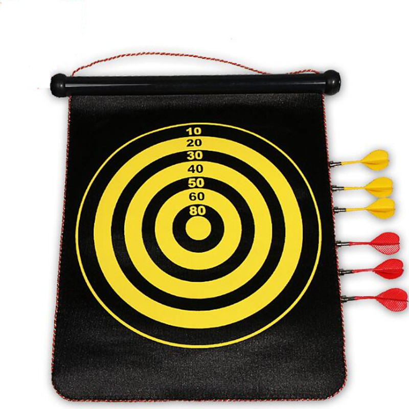 Plastic dart seti 17 inch double-sided magnetic darts set with 6 target darts magnetic thickened
