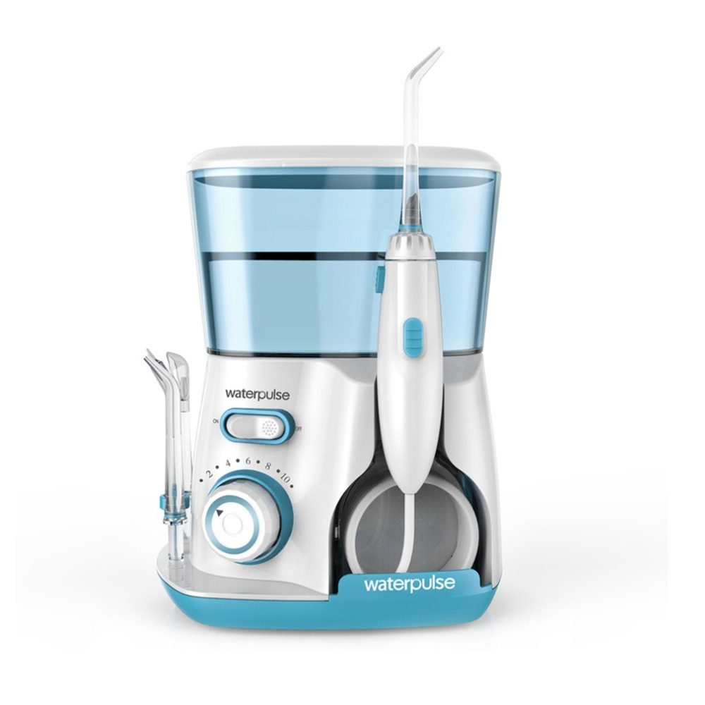 Waterpulse V300G 100-240 v Orale Irrigator Acqua Jet Pick Dentale Fili e cotoni per ricamo Denti Fili e cotoni per ricamo er Idro Set 800 ml capacità Dente Cleaner