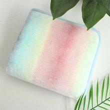 Очень мягкое Фланелевое красивое пушистое minky Радужное одеяло