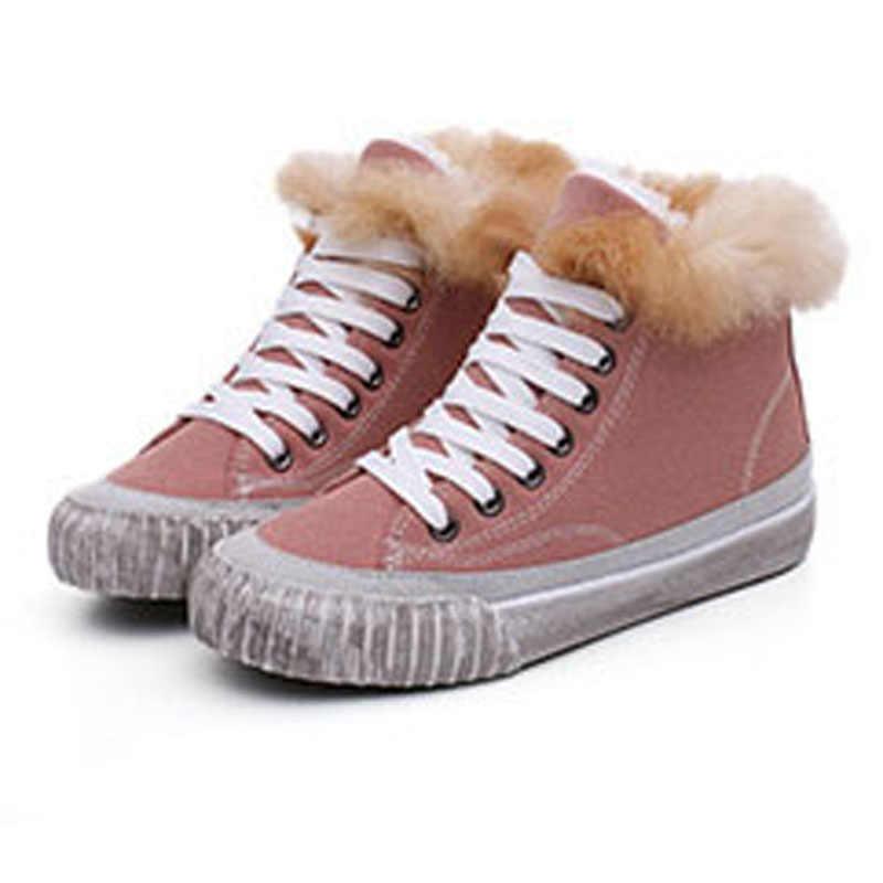 Fanyuan Stivali Da Neve Delle Donne di Spessore Inferiore Della Piattaforma Impermeabile Alla Caviglia Stivali Per Le Donne di Spessore Caldo di Inverno della pelliccia Caldo Stivali formato 35 -40