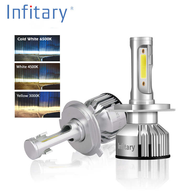 Infitary V3 model H4 LED H7 H1 H3 H11 72W 10000LM 3000K/4500K/6500K COB LED Car Headlight  Fog light Bulb car lamp Headlamp