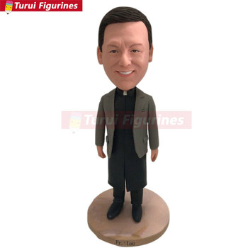 Male Officiant Preist Pastor Minister Reverend Rev Father Personalized Gift Preist Bobble Head Preist Birthday Cake Topper Preis