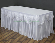 Hotsale quality wedding table skirting with arch party table skirt stainless steel hotsale quality cocktail table base only