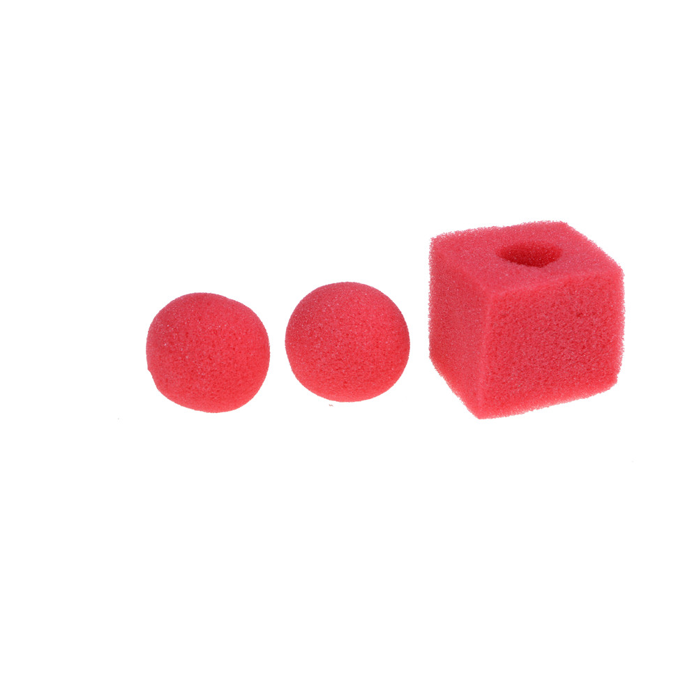 3 PCs 5cm Finger Magic Tricks Props Sponge Balls Fun Toys Street Classical Illusion Stage Comedy Tricks Magic Balls Kids Toys image