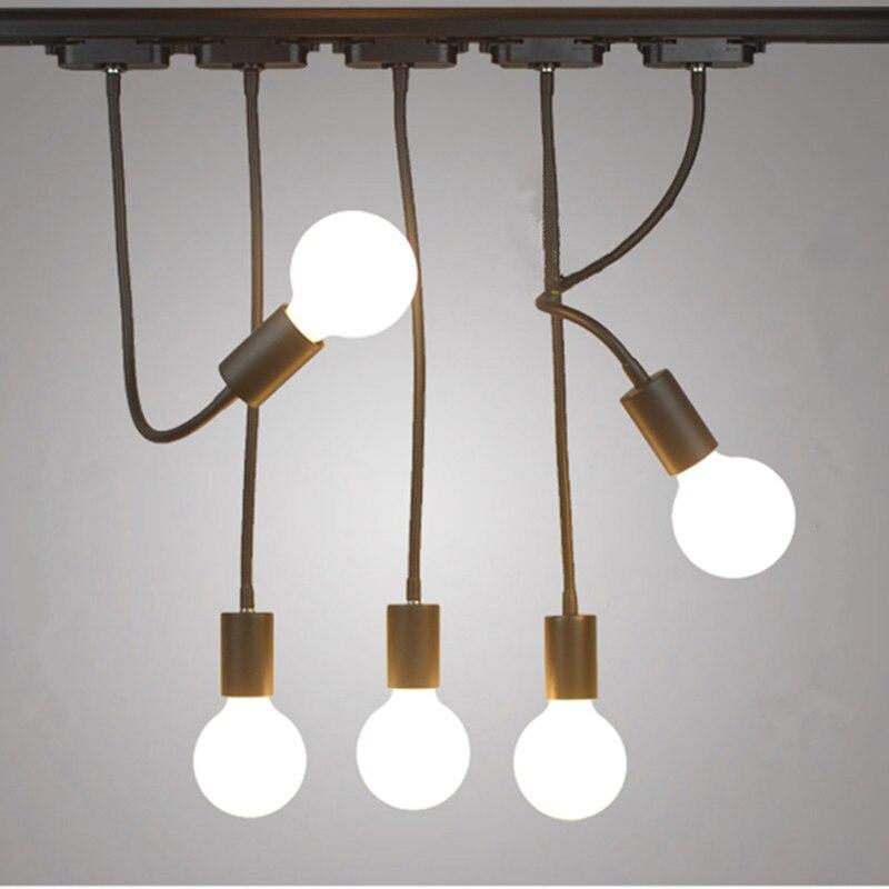 AC 110V 220V E27 Lamp Base Light Bulb Holder Iron Pendant