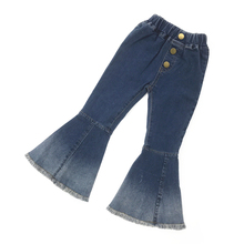 Moda bebé niñas Denim Bell Bottoms pantalones para niños ropa Vintage