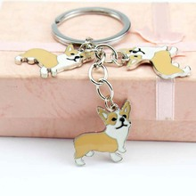 Cute Corgi Dog Pattern Key Chains Accessories