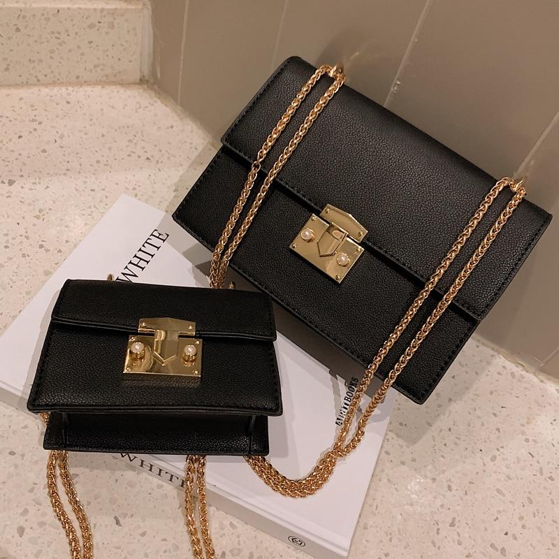 Элегантная Женская Повседневная квадратная сумка с клапаном, лето 2020, новая качественная кожаная женская дизайнерская сумка с цепочкой, сумка через плечо|Сумки с ручками|   | АлиЭкспресс