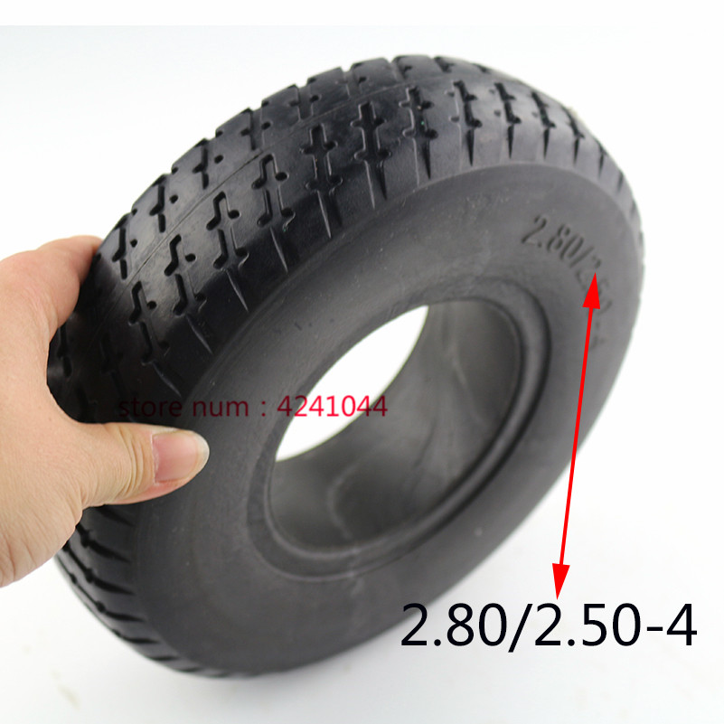 9 Inch Tire <font><b>2.80/2.50</b></font>-<font><b>4</b></font> Electric Scooter Trolley Trailer Solid Tyre Without Inner Tube Tyre and Wheelchair Solid Tire image