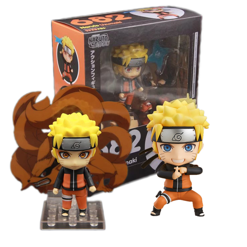 Naruto Anime Uzumaki Action Figure PVC New Collection Figures Toys 682 Collectible Model Toy 10cm With Retail Box #E 6pcs lot 7cm naruto action figure set q edition toy naruto japan anime figures model toy set action toys