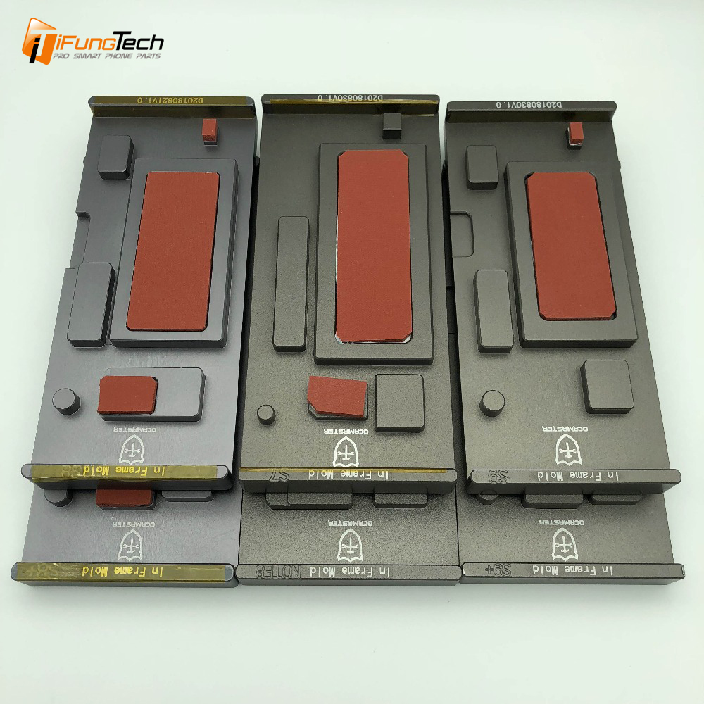 1pcs In frame laminating mold For samsung S7 edge/S8/S8 plus/S9/S9 plus/Note 8 9 LCD display unbent flex laminating cleaning image