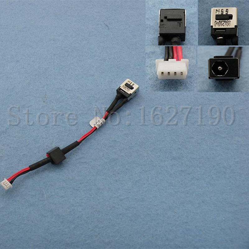 5Pcs New NEW PJ088 1.65MM DC Jack Cable for DELL Mini 9(910),10(1010)(with cable) Connector Laptop Socket Power Replacement