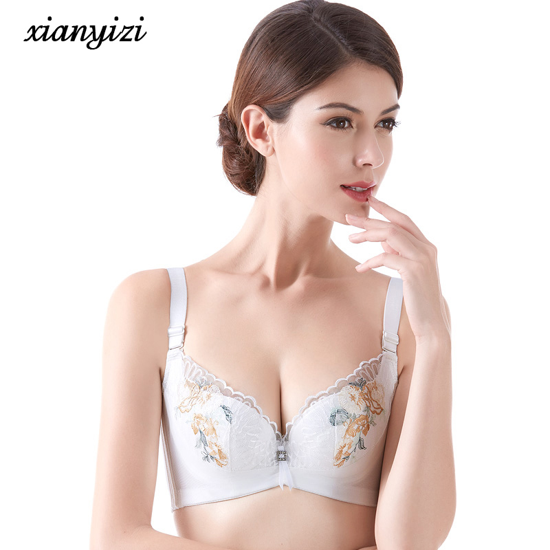 Summer new models breathable mold cup large size underwear ...