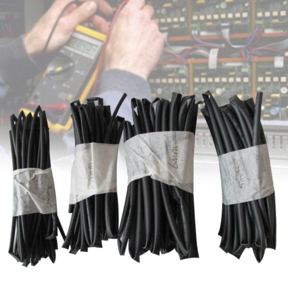 1.2m Black Adhesive Glue Lined Heatshrink 3mm-39mm Unshrunk Diameter 3:1 Ratio
