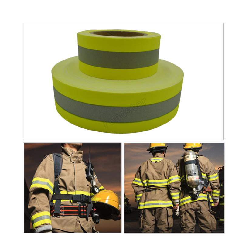 Reflective Flame Retardatn Tape with Yellow Silver and 100% Cotton Backing for Glove Free shipping flame trees of thika