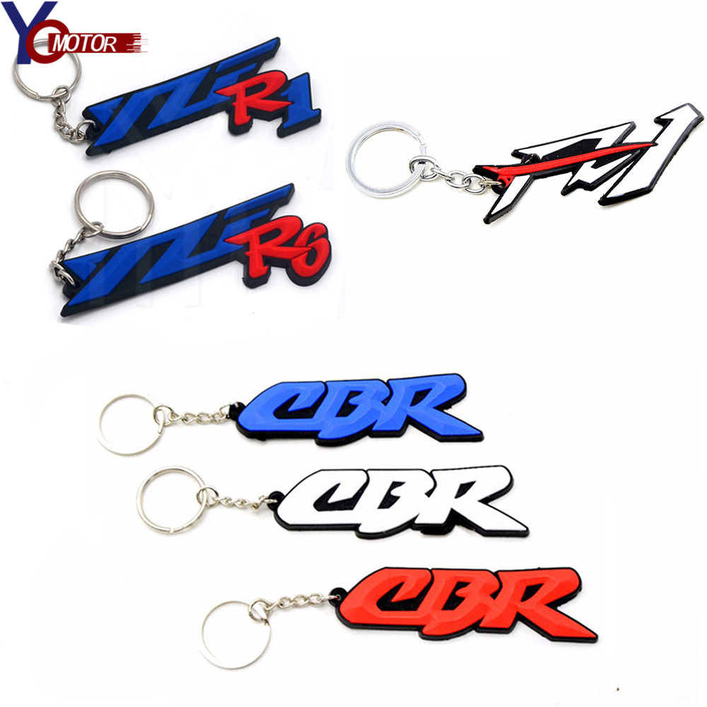 Frames & Fittings Motorcycle Motocross Model Cool Keyring Rubber Soft Keychain Key Chain Pendant For Honda Cbr250r Cbr600f Cb600f Cbr125r Cb1000r Motorcycle Accessories & Parts