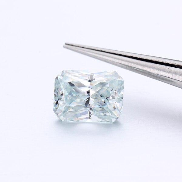 Драгоценные камни CHEESTAR, свободные моиссаниты, камень 6*8 мм, Сияющий Вырез, 1.65ct, светло голубой моиссанит, драгоценные камни, моиссаниты, алма