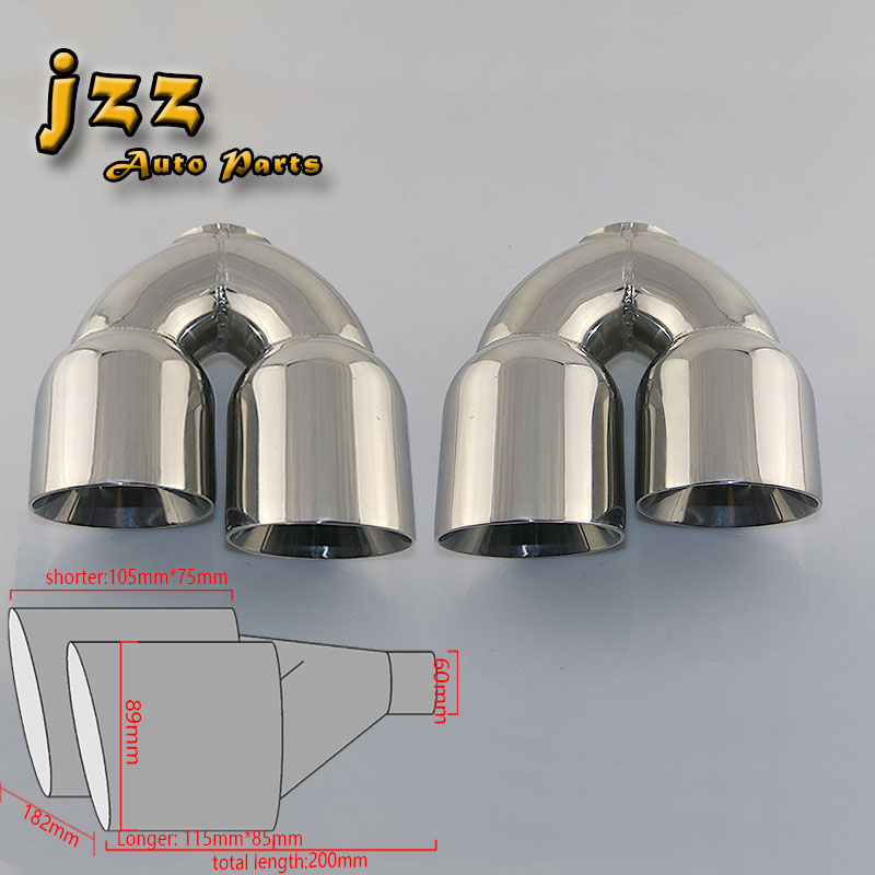 JZZ 1set car exhaust tip muffler for car silencer sound bomb tailpipe escape auto tube smoking pipe sound bomb turbo nozzle cool funny bomb shape coin bank w sound