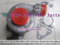 TD04 49177 01512 3 Holes water cool Turbocharger For Mitsubishi Delica L300 L200 Pajero Shogun For Hyundai galloper 2.5L 4D56 DE