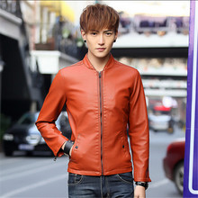 Fashion males's leather-based clothes outerwear 2016 spring motorbike leather-based jacket males leather-based coat quick jackets and coats for males