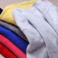 2017 מזדמנים סטנדרטי מכירה מלאה סוודרי Jumper מוצק חדש סתיו וחורף נשים סריגים סוודרי הסוודר V צוואר קשמיר חם