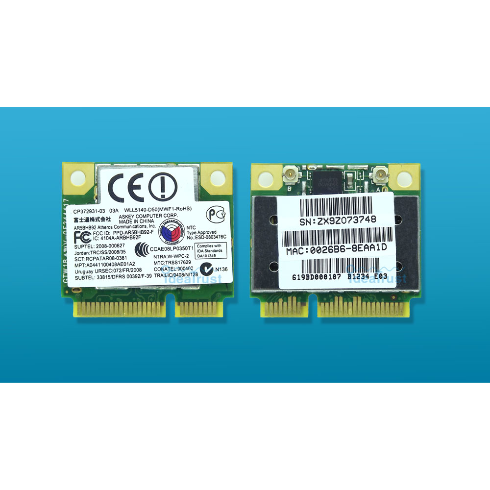 AR5BHB92 AR9280 Dual-Band 2.4G/5GHz 802.11a/b/g/n 300Mbps WiFi Wireless Network Card Free Drivers On Mac OS